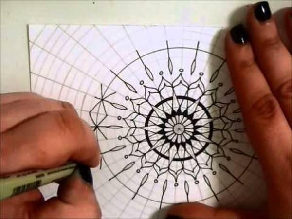 mandala dessin facile