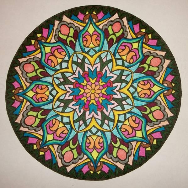 dessin mandala fleur