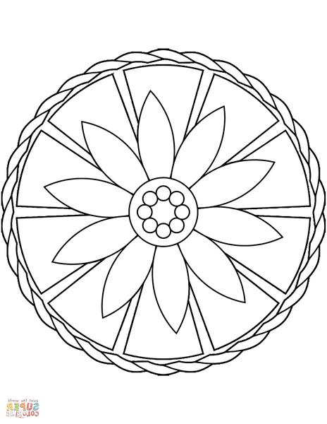 mandala tatouage poignet